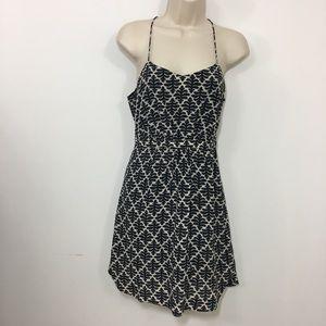 Madewell spaghetti strap geometric print dress 0